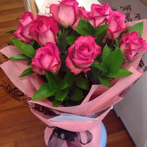 Coloured Roses Bouquet - 1 doz