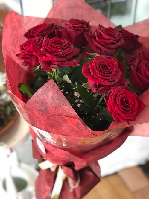 Red Roses Bouquet - 1 doz