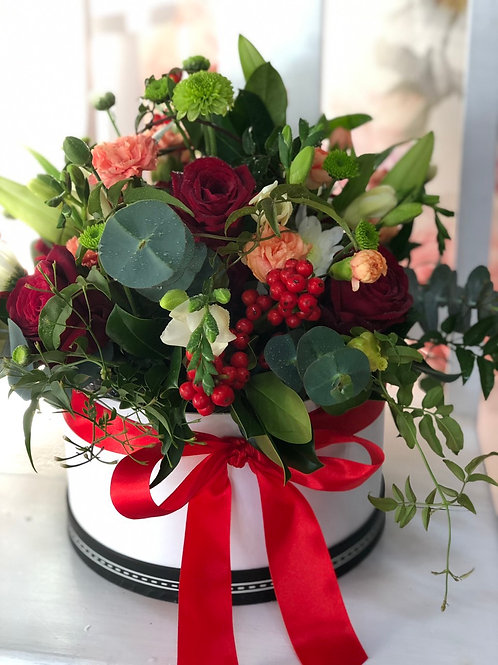 Hat Box Bouquet - from $70