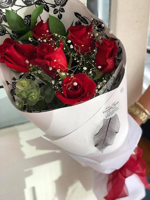 Red Rose Sheaf - 1/2 doz