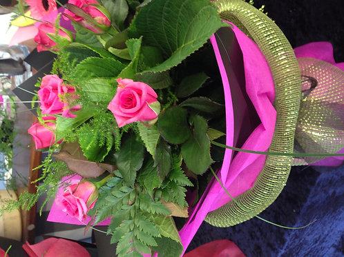 Coloured Roses Bouquet - 1/2 doz