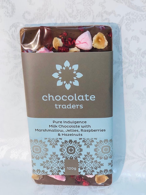 Milk bar pure indulgence - marshmellows, jellies, raspberries & hazelnuts