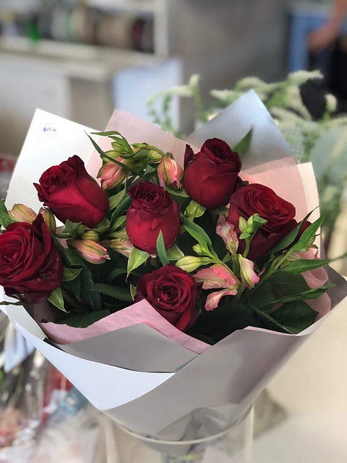 Red Roses Bouquet - 1/2 doz