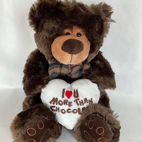 Teddy Bear - Brown bear (Love you more than Chocolate)