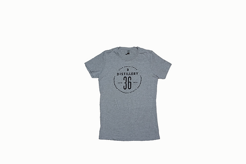 D36 Grey w/Black Print Women's T-Shirt