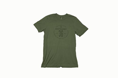 D36 Olive w/Black Print T-Shirt