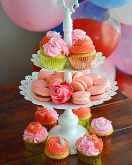 Macarons and cupcakes