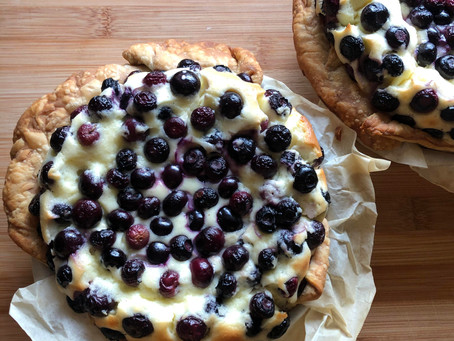 Blueberry Lemon Basque Cheesecake