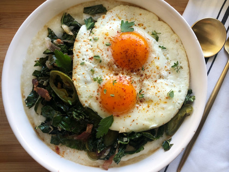 Southern Grits and Greens Breakfast Bowl