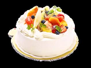 生クリームと彩りフルーツデコレーション