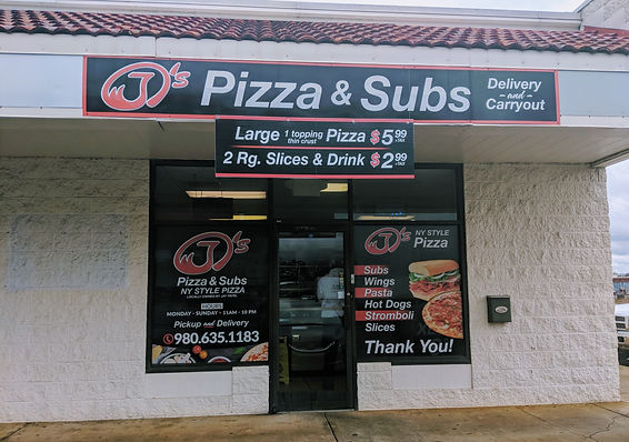 Building for Jay's pizza and subs store front