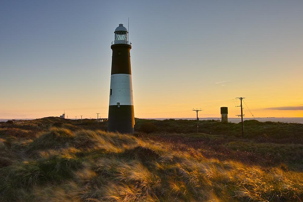 Spurn Point Lighthouse.