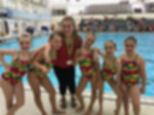 Novice Artistic Swimming Team