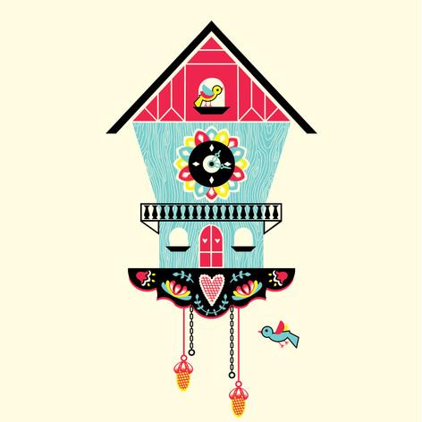 Cuckoo Clock Illustration