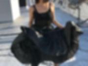 black skirt, ruffle skirt, underskirt, black witch costume, red listick