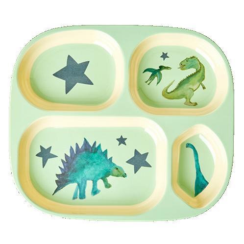 צלחת מלמין מחולקת דינוזאורים