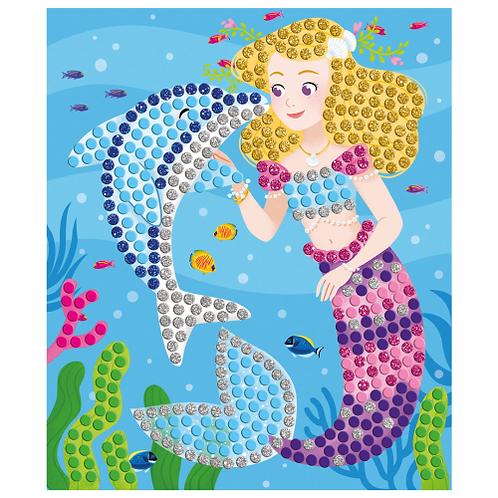 יצירה – כרטיסיות מוזאיקה דולפינים ובנות ים