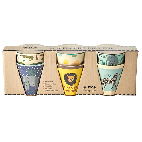 סט 6 כוסות טוטון מיני בהדפס ג'ונגל כחול