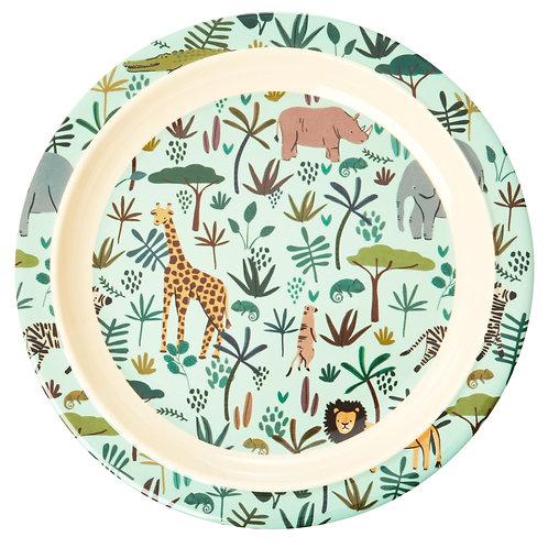 צלחת מלמין לילדים בהדפס ג'ונגל