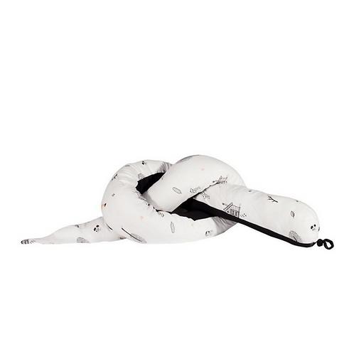 נחשוש למיטת תינוק/מעבר בצבע לבן הדפס היער הסודי