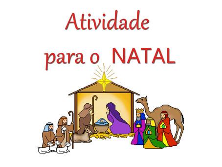 Atividade para o mês do Natal (Download)