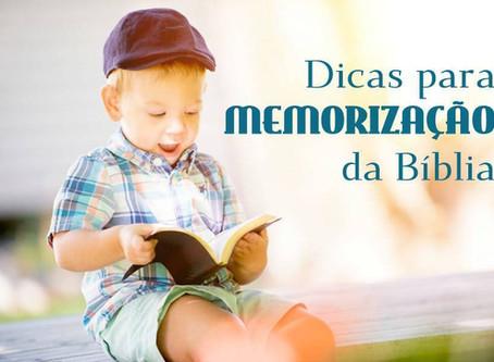 Dicas para Memorização da Bíblia
