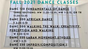Fall 2021 Dance Classes