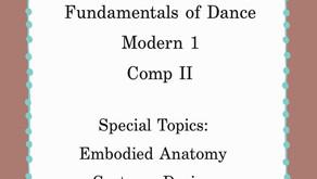 Spring 2020 Class Opportunities in Dance