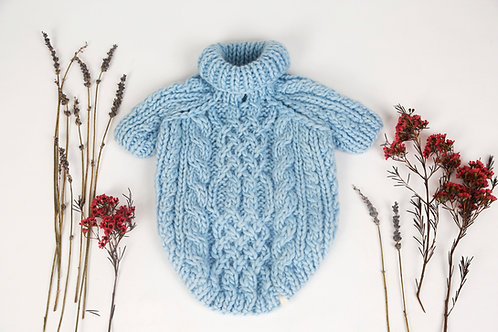Knitted Sweater Baby Blue