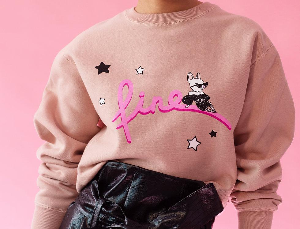 """""""Fine"""" sweater in blush"""