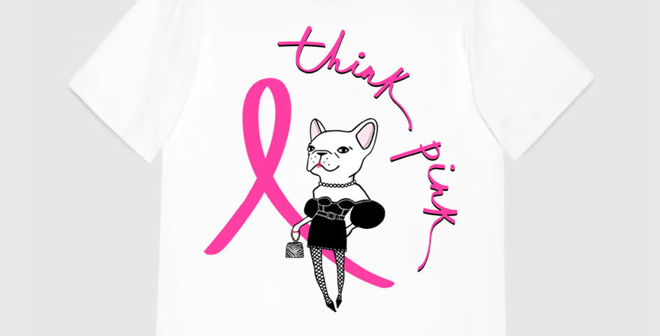 Think Pink T-shirt in White