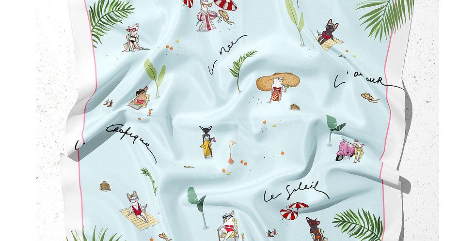 Capri silk scarf