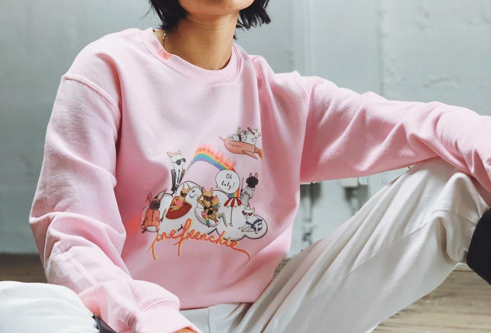 Hey Babe Sweatshirt in Pink