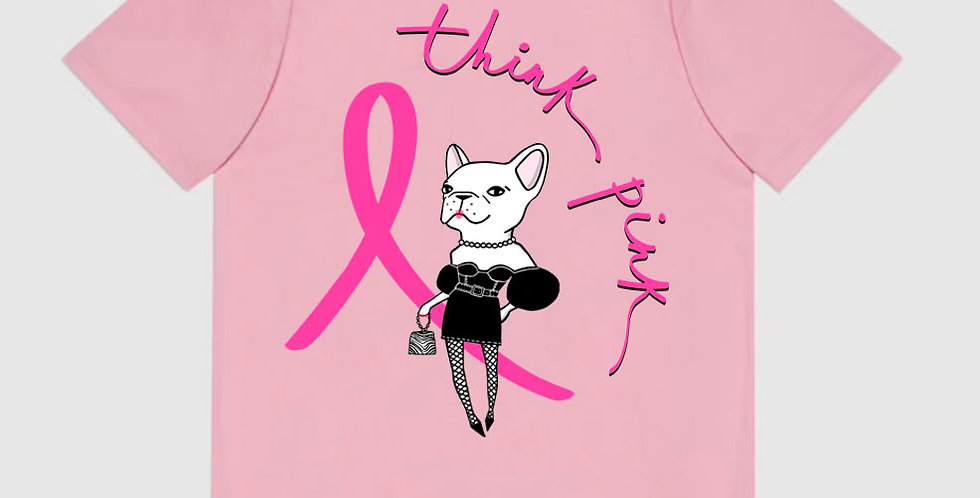 Think Pink T-shirt in Pink