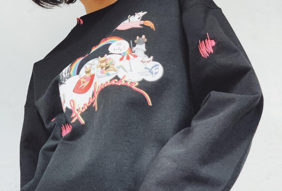 Hey Babe Sweatshirt in Black