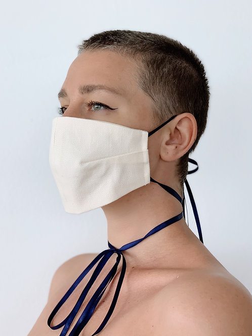 Protective mask in White