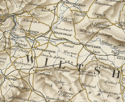A historical map of Bulkington.png