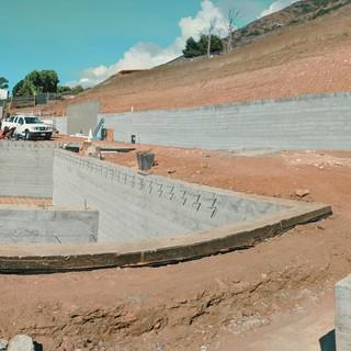 Malibu Job Site Retaining Walls