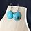 Thumbnail: Blue swirl bead earrings