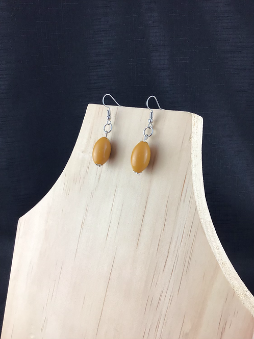 Mustard bead earrings