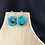Thumbnail: Turquoise swirl bead earrings
