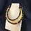 Thumbnail: Sunset pattern fabric necklace