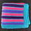 Thumbnail: Blue purple and pink knitted blanket