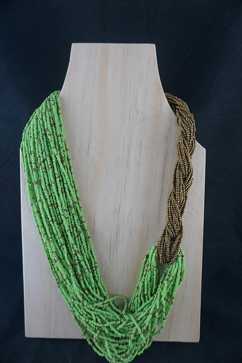 Pale Green and Gold Necklace