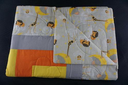 Giraffe and Lion Blanket