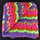 Thumbnail: Colourful striped crocheted blanket