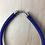 Thumbnail: Royal blue fabric chunky tight necklace