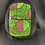 Thumbnail: Kids green and maroon backpack