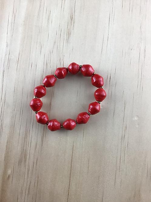 Red bead arm bracelet