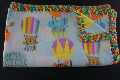 Hot Air Ballon Animal Blanket- Rainbow